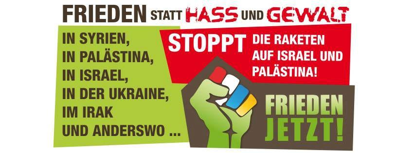 Das Plakat der morgigen Friedensveranstaltung