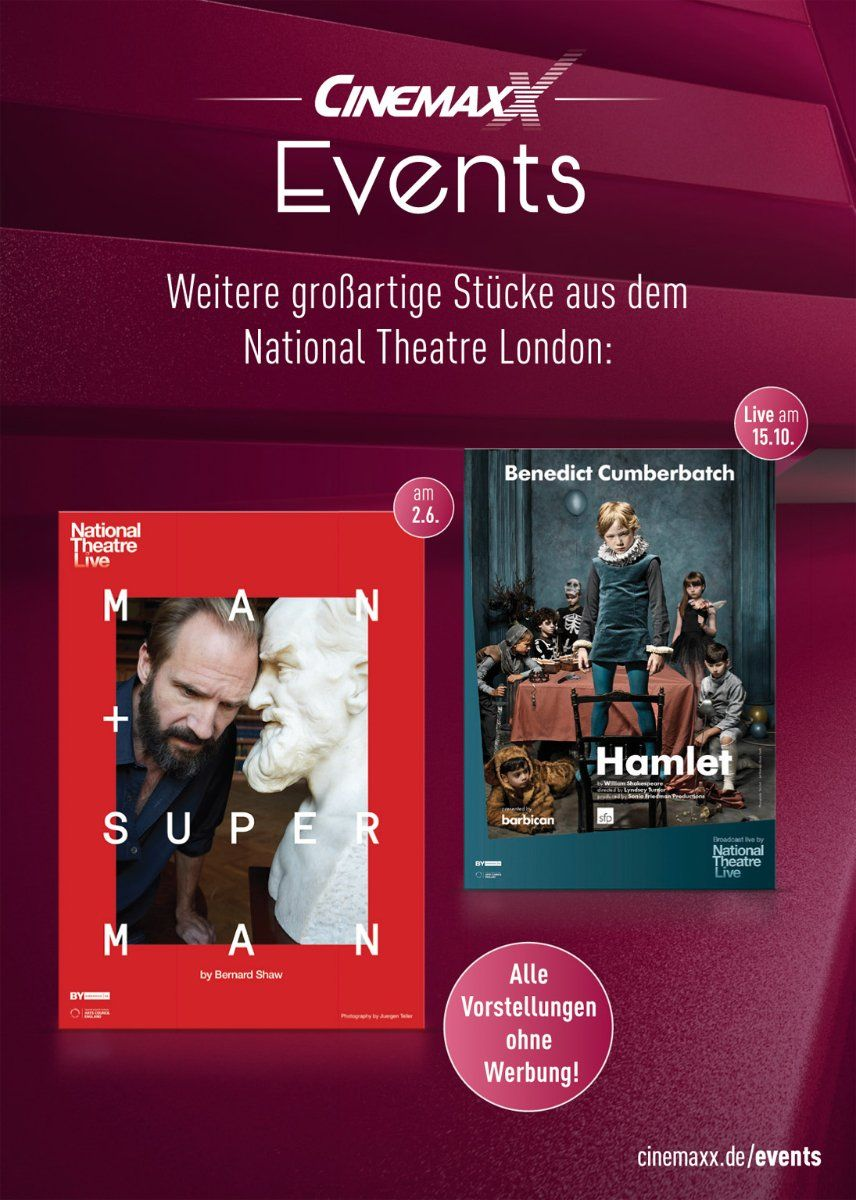 man and superman aus dem national theatre london im cinemaxx augsburg presse augsburg. Black Bedroom Furniture Sets. Home Design Ideas