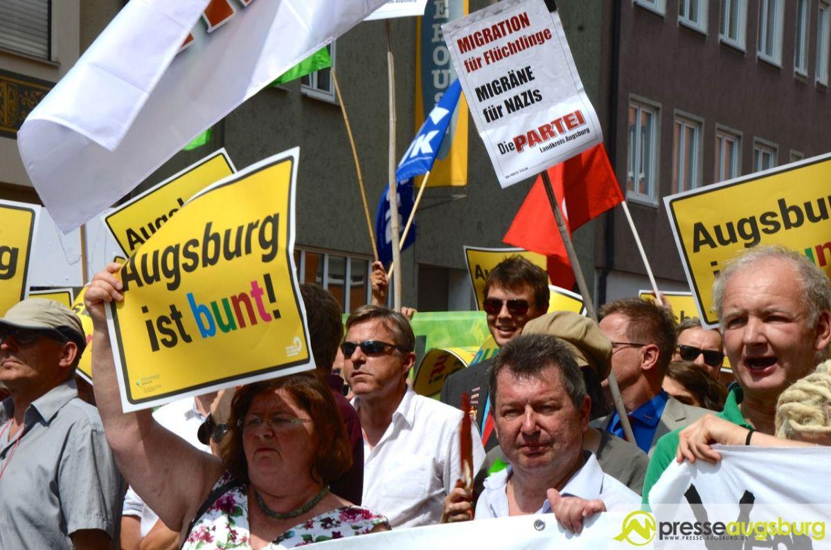 2015-08-08-Demo-gegen-Rechts-–-23 SPD gedenkt Widerstandskämpfer Bebo Wager Politik Bebo Wager Nazi-Regimes SPD Wiederstandskämpfer |Presse Augsburg