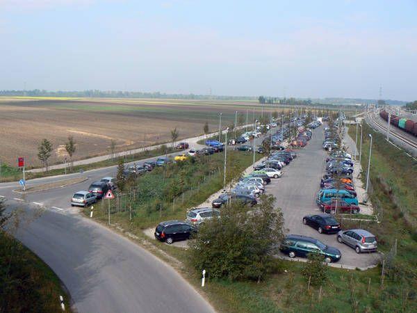 Der Park&Ride Platz in Mering/St. Afra  Bild: http://www.mering.de/