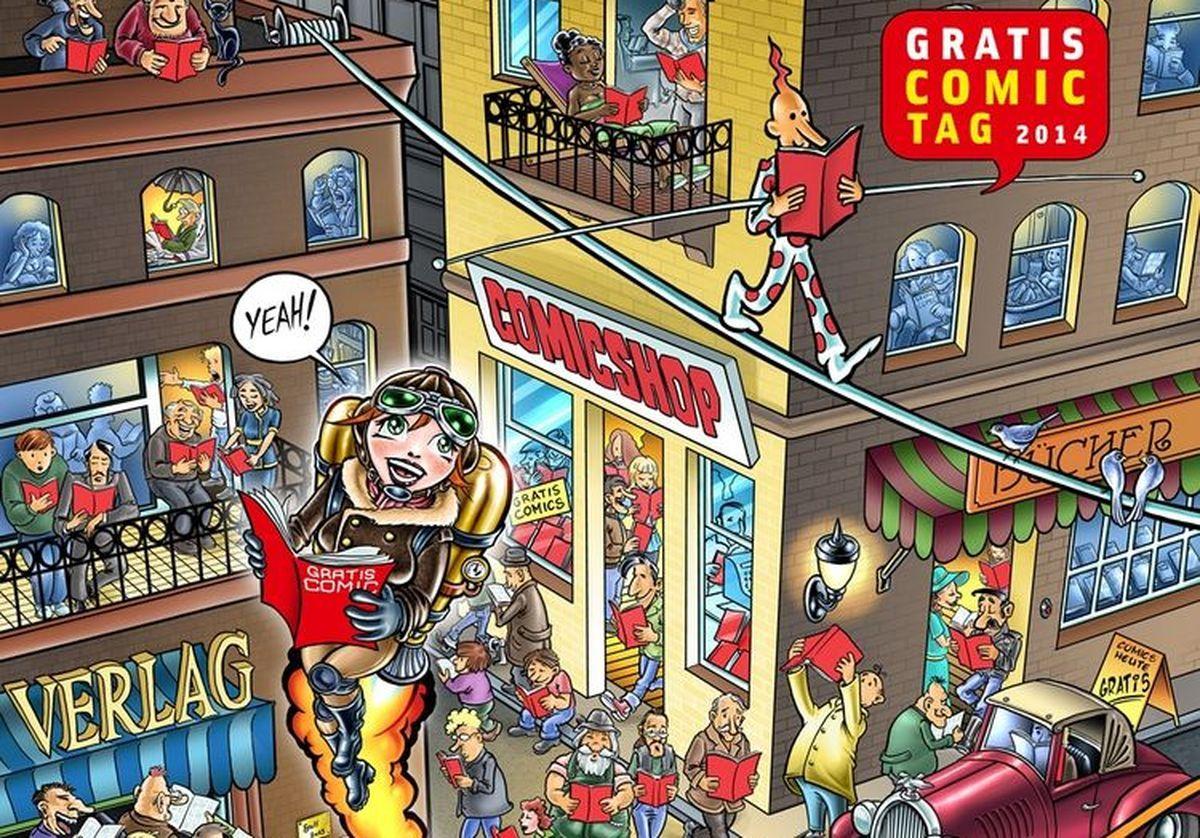 """stadt-augsburg_-Cratis-Comic-Tag-2014_ausschnitt Wer will Comics gratis? Am 10. Mai ist """"Gratis Comic Tag"""" Freizeit Kunst & Kultur Augsburg Gratis Comic Tage Neue Stadtbibliothek  Presse Augsburg"""