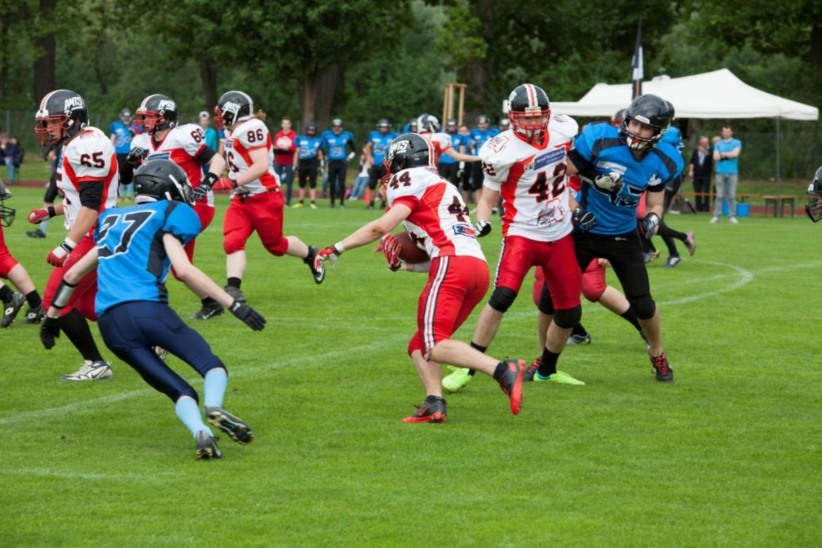 ants_juniors_franken YES! Ants Juniors fahren ersten Saisonsieg ein Sport A-Juniors American Football Franken Timberwolves Königsbrunn Ants |Presse Augsburg
