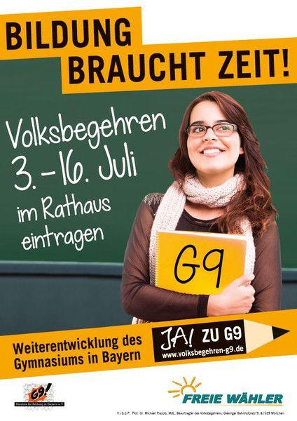 47bbc24653 Das Volksbegehren G8/G9 Gymnasium läuft News G8 G9 Gymnasium Volksbegehren |Presse Augsburg