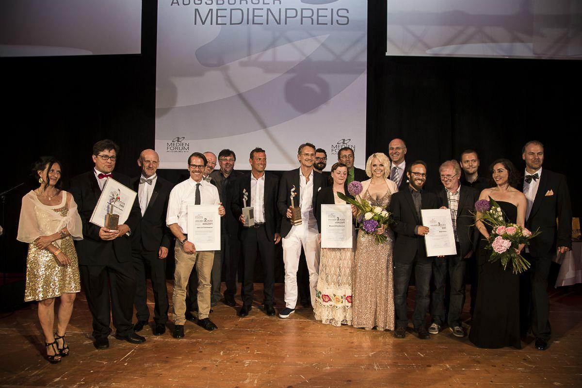 Gewinner Augsburger Medienpreis verliehen - über 1.000 Gäste feierten eine glamouröse Gala im Kongress am Park News Wirtschaft 2014 Augsburger Medienpreis |Presse Augsburg