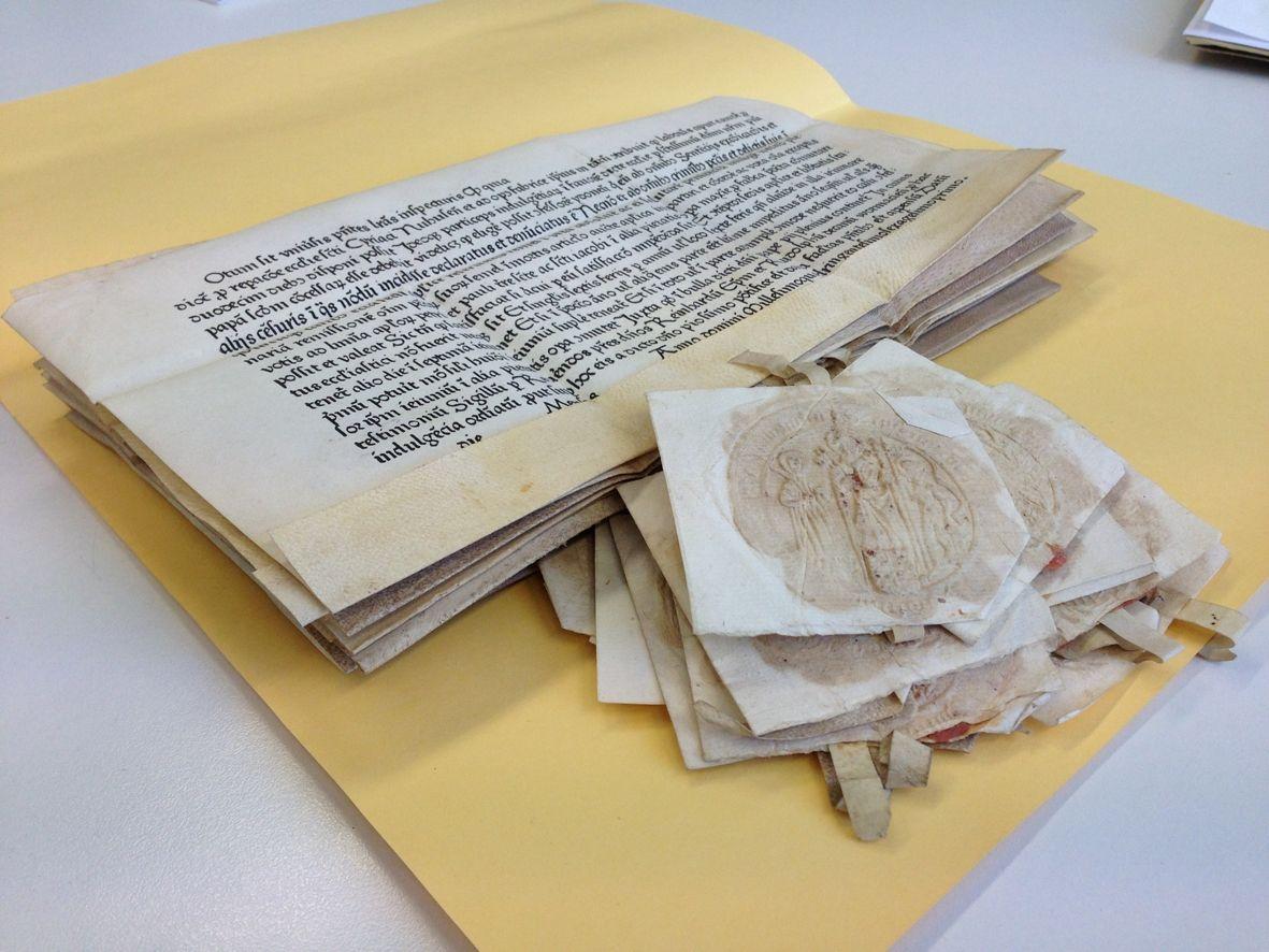 uni_snewsimage240242 Augsburger Buchwissenschaftler macht eine sensationelle Entdeckung News Ablassbrief Buchdruck Buchwissenschaftler Fund Gutenberg Universität Augsburg |Presse Augsburg
