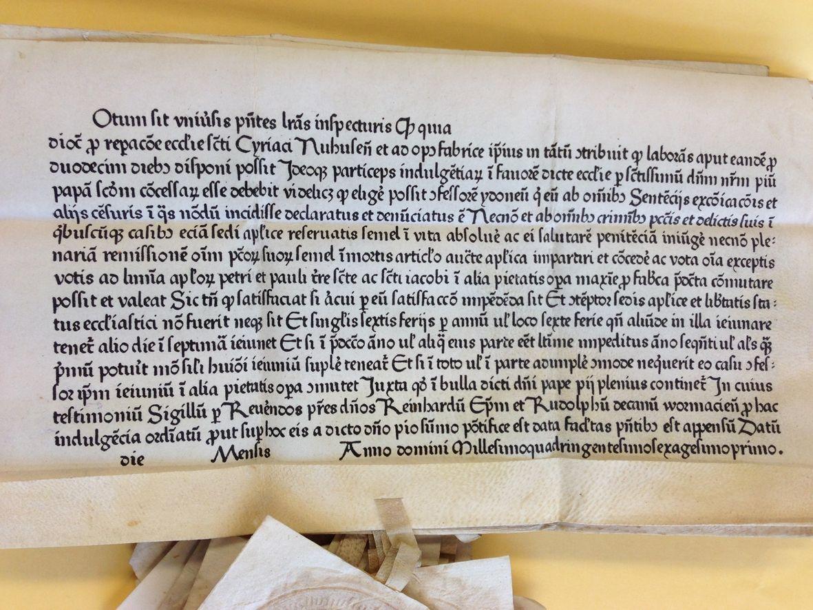 uni_snewsimage24042 Augsburger Buchwissenschaftler macht eine sensationelle Entdeckung News Ablassbrief Buchdruck Buchwissenschaftler Fund Gutenberg Universität Augsburg |Presse Augsburg