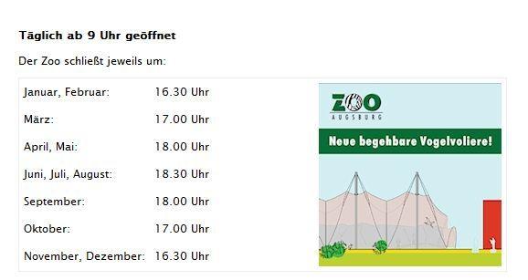 zoo_öffnungszeiten Ab Sonntag gelten im Augsburger Zoo Winterpreise Freizeit News Öffnungszeiten Tiergarten Tierpark Winterpreise Zoo Augsburg |Presse Augsburg