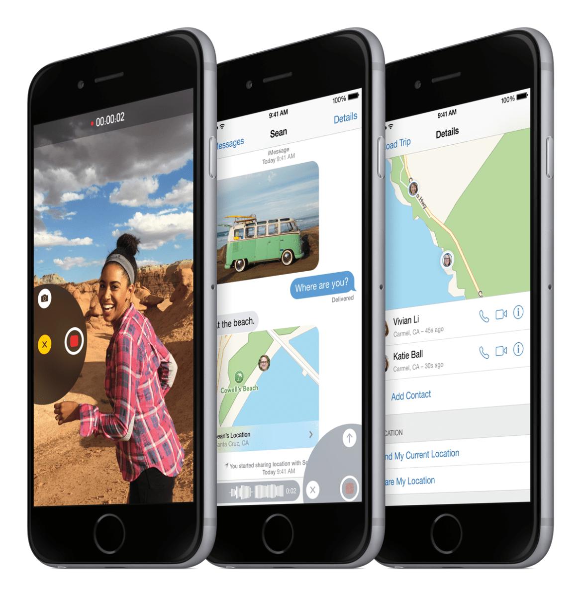 iPhone6_34FR_SpGry_3-Up_iOS8-PRINT Apple präsentierte am Dienstag seine Neuheiten | Was Sie darüber wissen sollten... Freizeit News Technik & Gadgets Apple apple pay apple watch iphone iPhone 6 iphone plus |Presse Augsburg