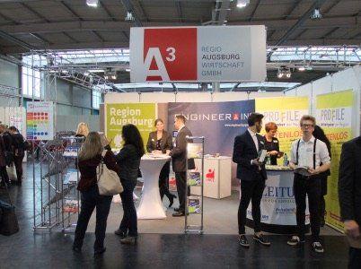 a3_pm Gemeinschaftsstand des Wirtschaftsraums Augsburg auf der akademika Jobmesse in Augsburg News Wirtschaft Regio Augsburg  Presse Augsburg