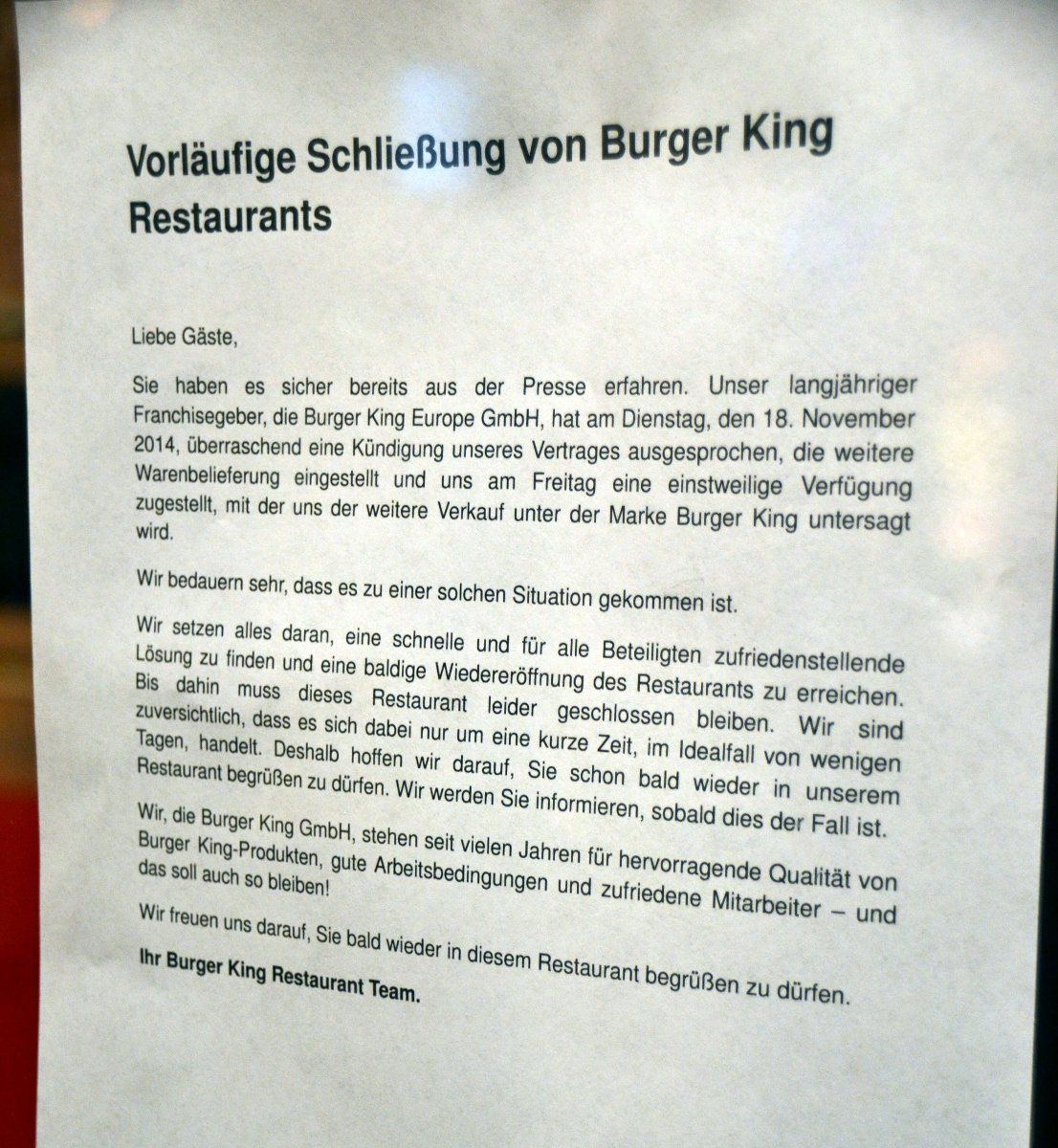 gehen die lichter in den augsburger burger king filialen doch bald wieder an presse augsburg. Black Bedroom Furniture Sets. Home Design Ideas