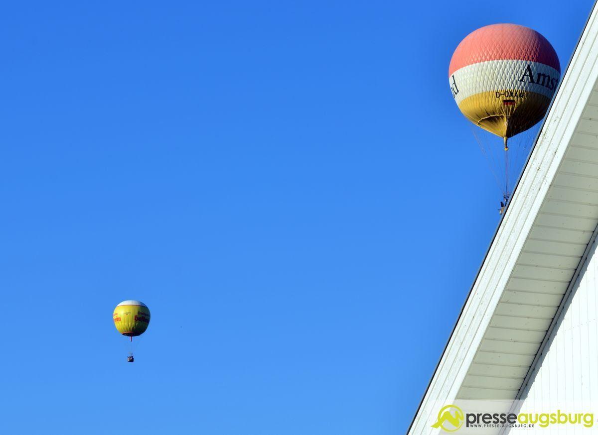 Neu Ulm Hei Luftballon Streift Beinahe Einen Balkon
