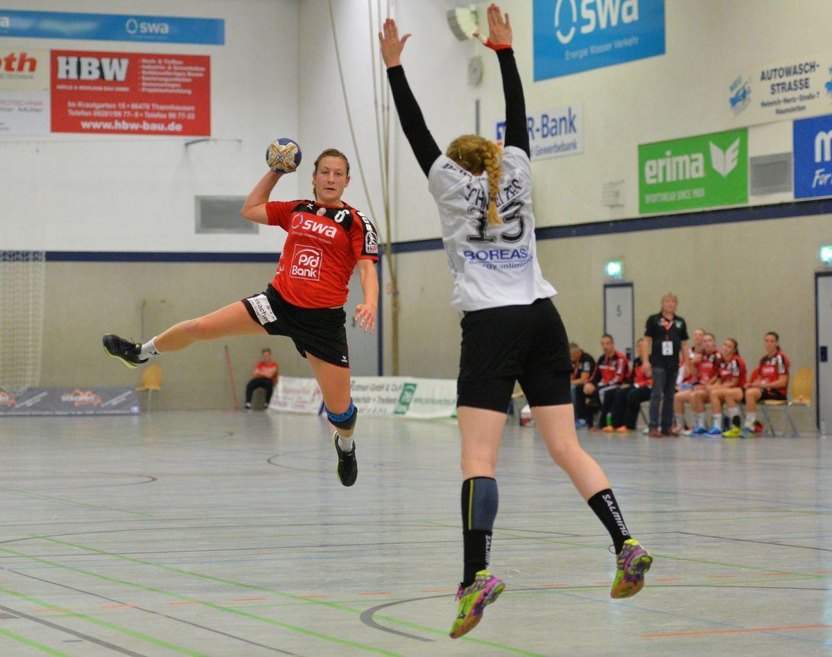 TSV Haunstetten – Thueringer HC, HBF, DHB-Pokal Frauen, Runde 2, Handball, Damen, Saison 2015 2016, 03.10.2015
