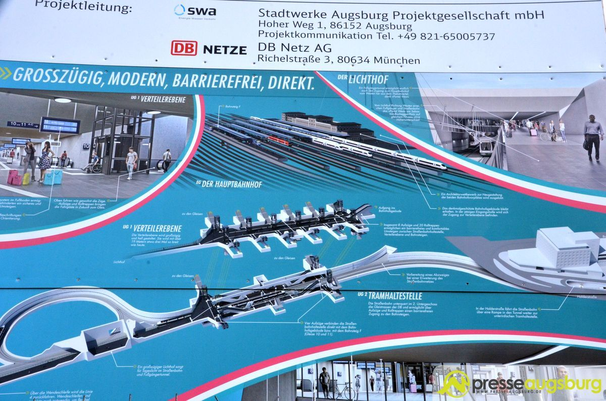 Mittelunterführung am Augsburger Hauptbahnhof wird gesperrt und abgerissen