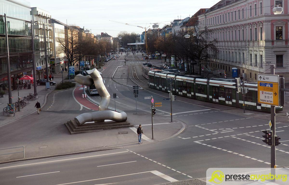 Königsplatz Fuggerstraße Straßenbahn