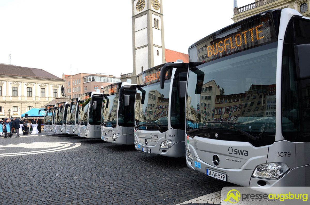 stadtwerke augsburg nehmen neue bus generation in betrieb presse augsburg nachrichten f r. Black Bedroom Furniture Sets. Home Design Ideas