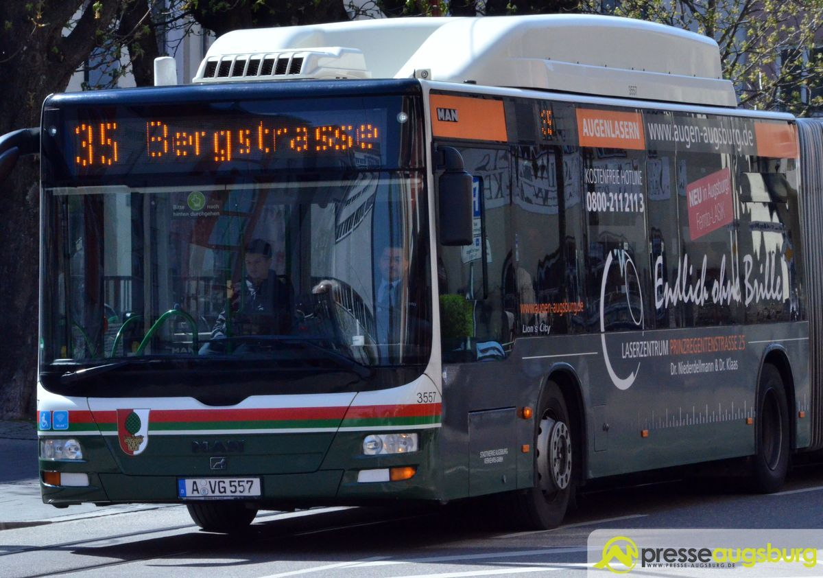 bus_linie35 Augsburg-Pfersee | Mehrere Verletzte bei Zusammenstoß von Linienbus mit Fahrrad Augsburg Stadt News Polizei & Co Augsburg Bus Fahrrad Linie 35 Pfersee Pferseeer Straße Unfall |Presse Augsburg