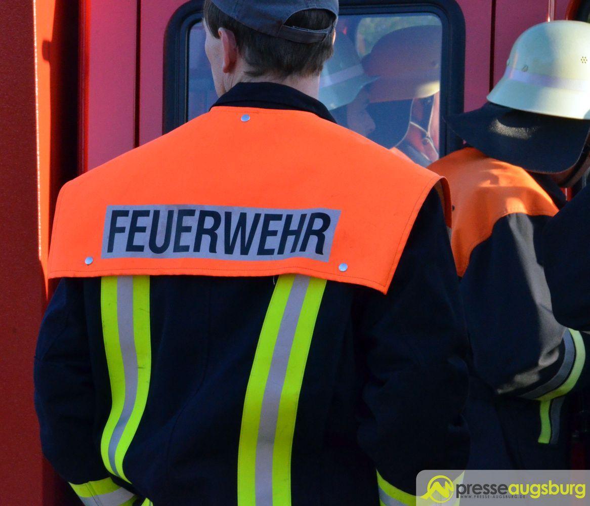 feuerwehr-5 Feueralarm in Augsburg - Zimmerbrand im Bärenkeller Augsburg Stadt News Polizei & Co Augsburg Bärenkeller Feuerwehr Hirblinger Straße  Presse Augsburg
