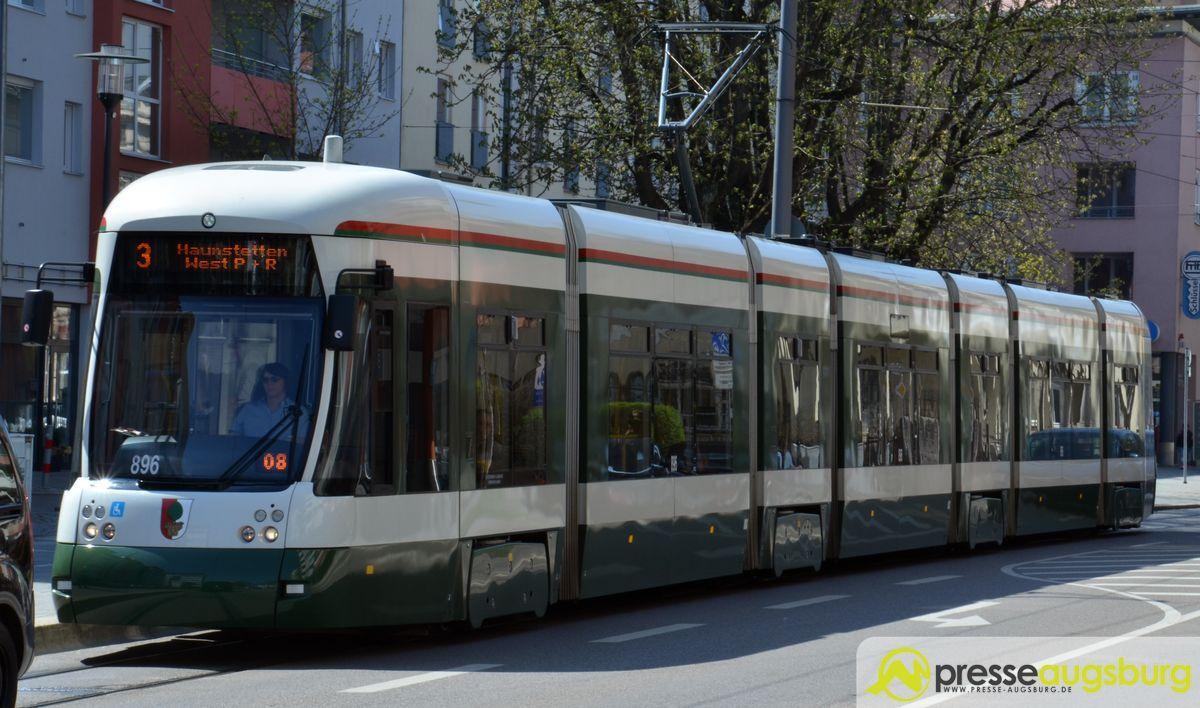 Straßenbahn Linie3 Haunstetten Pferesee 1