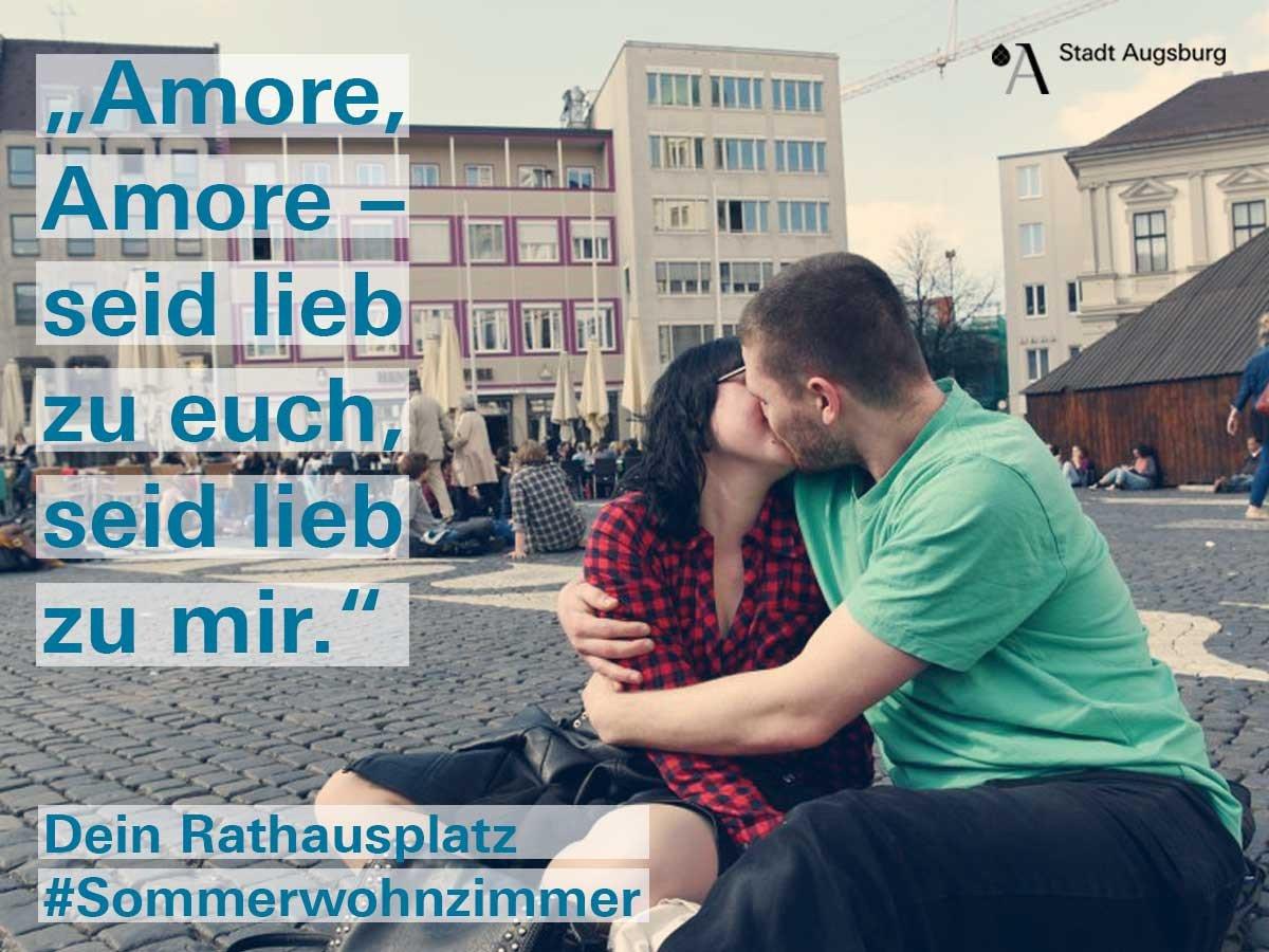 17 03 30 rathausplatz kampagne sommerwohnzimmer amore presse augsburg nachrichten f r. Black Bedroom Furniture Sets. Home Design Ideas