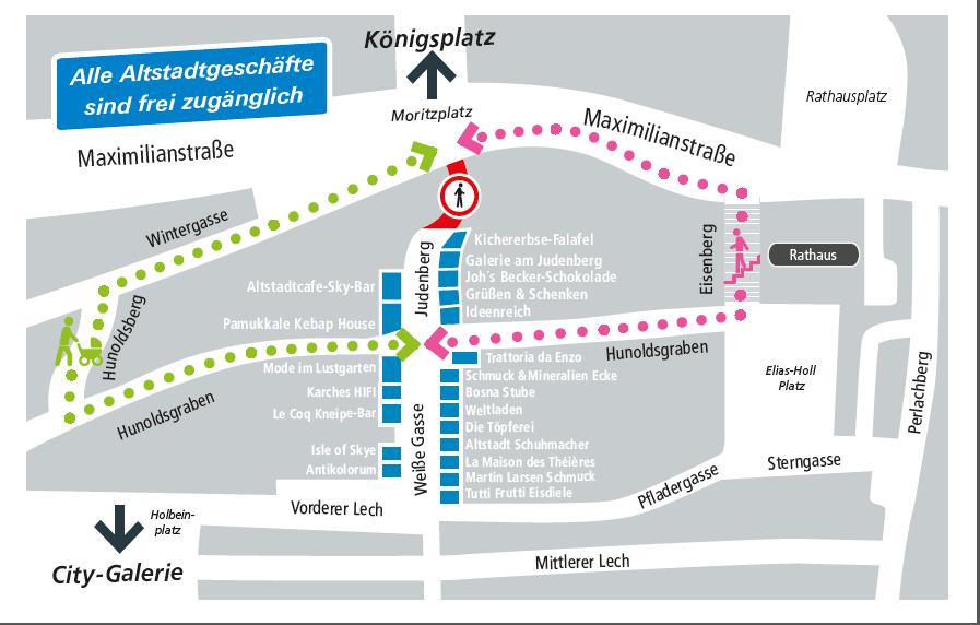 Unbenannt-38 Augsburg | Judenberg ab heute für sieben Wochen gesperrt Augsburg Stadt News Altstadt Augsburg Judenberg Max23 Sperrung |Presse Augsburg