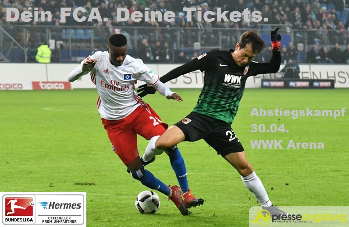 dein fca deine tickets fc augsburg vs hamburger sv am presse augsburg. Black Bedroom Furniture Sets. Home Design Ideas