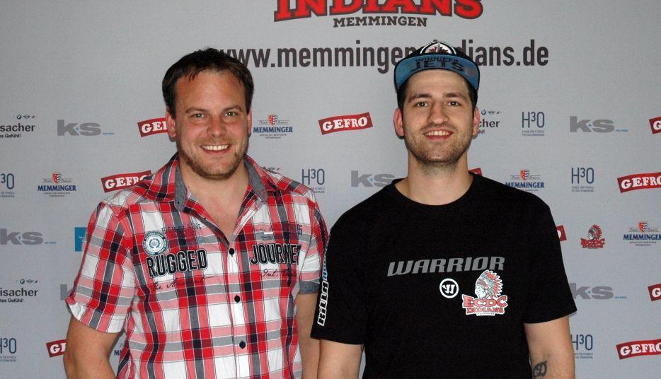 SvenMüller-SvenSchirrmacher Eishockey | Memmingen Indians verlängeren mit weiterem Verteidiger mehr Eishockey News Sport Unterallgäu |Presse Augsburg