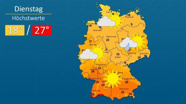 Wetter   Am Dienstag oft freundlich - Die Vorhersage für Augsburg und Deutschland