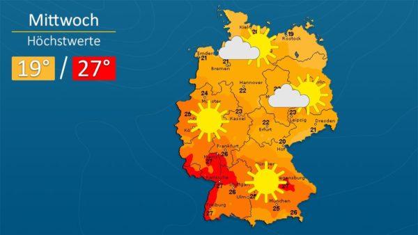 Wetter   Durchwegs sonnig - Die Vorhersage für Augsburg und Deutschland