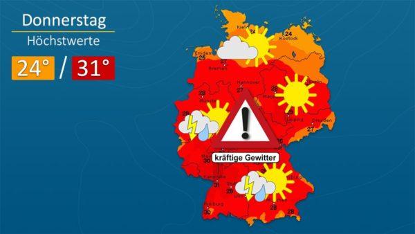 Wetter   Am Donnerstag kommen Gewitter an - Die Vorhersage für Augsburg und Deutschland