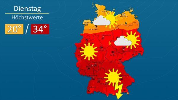 Wetter | Sonne brennt vom Himmel - Die Vorhersage für Augsburg und Deutschland