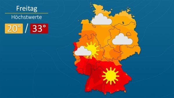 Wetter   Wolkenlos - Die Vorhersage für Augsburg und Deutschland