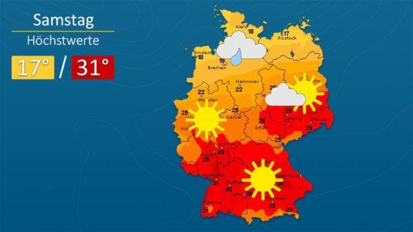 Wetter | Ein warmes Wochenende - Die Vorhersage für Augsburg und Deutschland