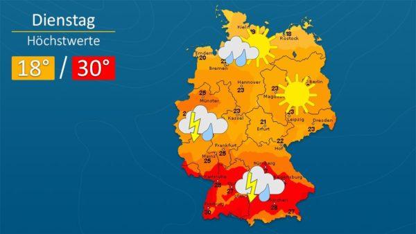 Wetter | Es wird gewittrig - Die Vorhersage für Augsburg und Deutschland