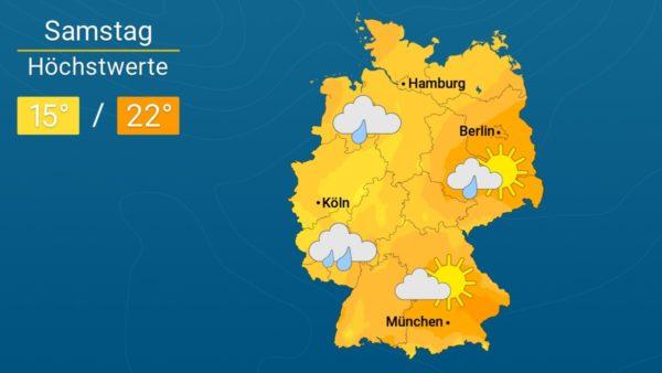 Das Wetter |Verbreitet nur um 20 Grad - neuer Regen aus Nordwesten