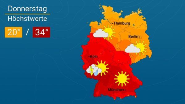 Wetter | Wolkenlos - Die Vorhersage für Augsburg und Deutschland