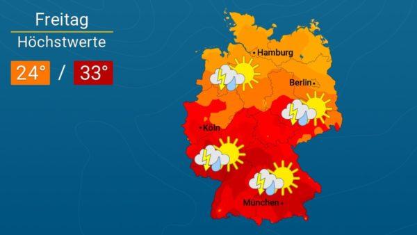 Wetter | Schwülwarm und gewittrig - Die Vorhersage für Augsburg und Deutschland