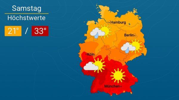 Wetter | Wieder drückend heiß- Die Vorhersage für Augsburg und Deutschland