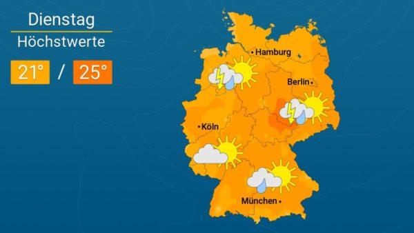 Wetter | Es bleibt wechselhaft - Die Vorhersage für Augsburg und Deutschland
