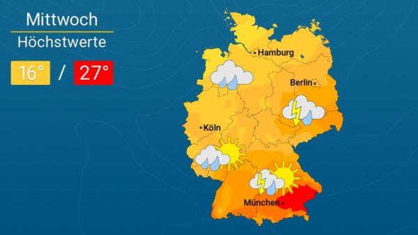 Wetter | Am Mittwoch nass und stürmisch - Die Vorhersage für Augsburg und Deutschland