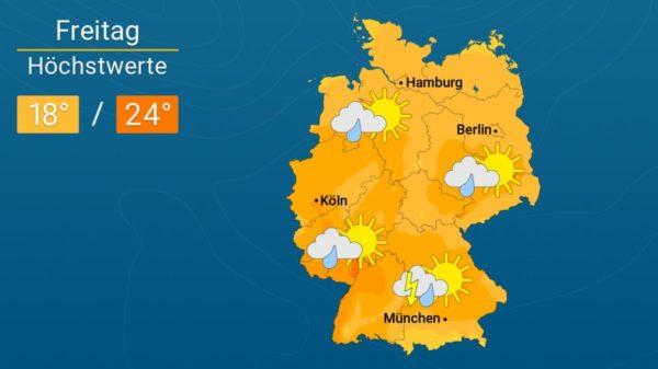 Neue Regengüsse im Anmarsch   Das Wetter für Augsburg und Deutschland