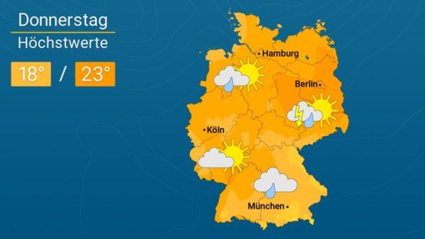 Es bleibt bedeckt   Das Wetter für Augsburg und Deutschland