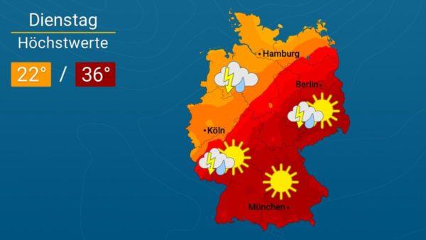 Es wird noch heißer | Das Wetter für Augsburg und Deutschland