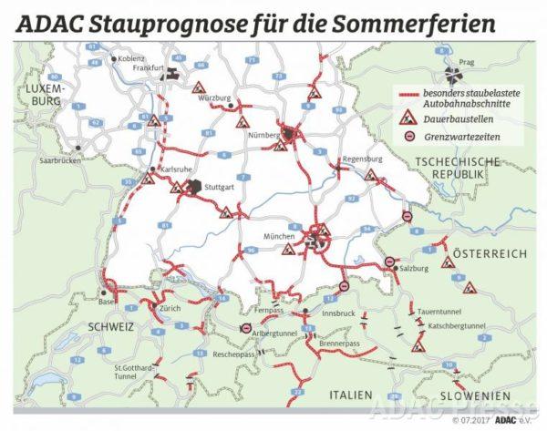 Ab in die Ferien - Hier könnte es sich auf bayerischen Straßen stauen