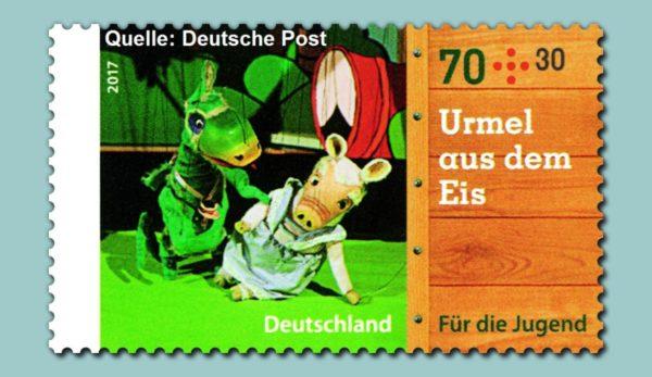 Marionetten der Augsburger Puppenkiste auf Briefmarken