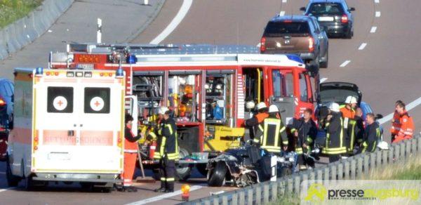 Kreis Augsburg   Ein trauriger Sonntagmorgen - Mann stirbt bei Unfall auf der A8