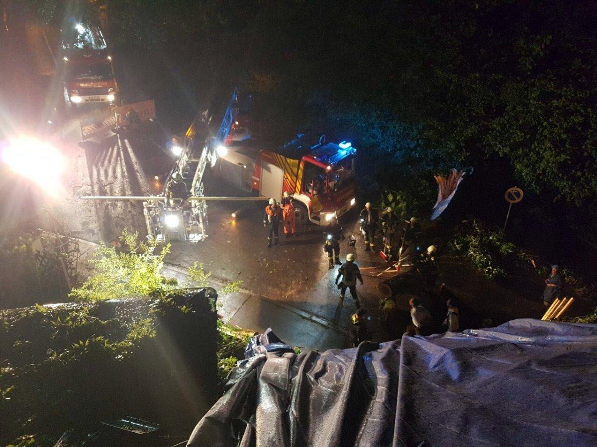Haubensteigweg-18.8.-17-2 Feuerwehr Kempten arbeitet an über 50 Unwetter-Einsätzen News Polizei & Co Unterallgäu Feuerwehr Kempten Unwetter |Presse Augsburg