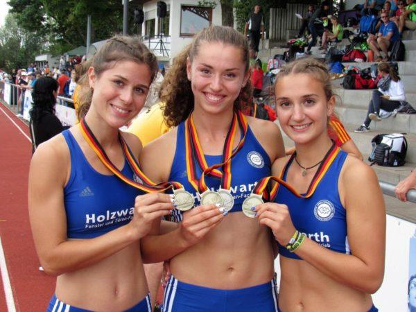 Auerbacher Sportlerinnen holen Gold und Silber bei Deutschen Mehrkampfmeisterschaften