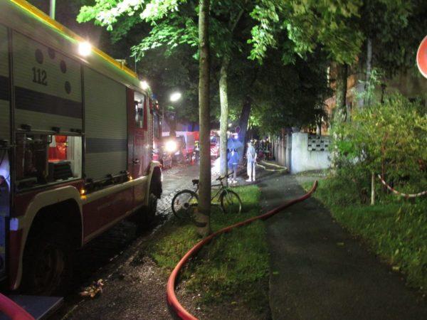 Feuer in Asylbewerberunterkunft in Augsburg-Pfersee - 51 Menschen evakuiert