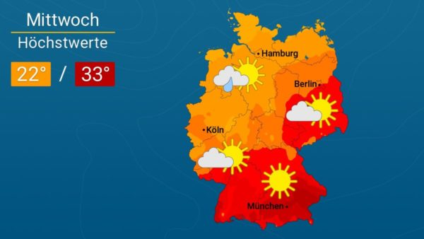 Heiterer mit Gewittern | Das Wetter für Augsburg und Deutschland