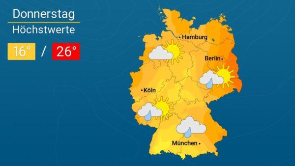 Kühleres Schmuddelwetter   Das Wetter für Augsburg und Deutschland